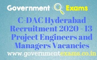 C-DAC Hyderabad Recruitment 2020