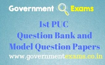 1st PUC Question Bank and Model Question Papers