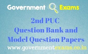2nd PUC Question Bank and Model Question Papers