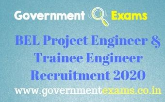 BEL Project Engineer & Trainee Engineer Recruitment 2020