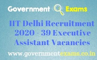 IIT Delhi Recruitment 2020