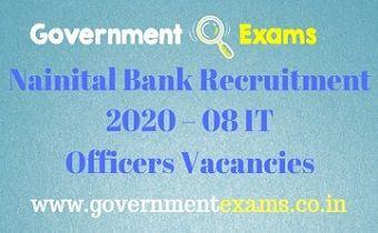 Nainital Bank IT Officers Recruitment 2020