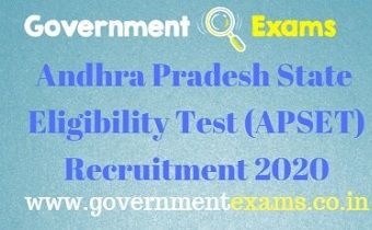 APSET Recruitment 2020