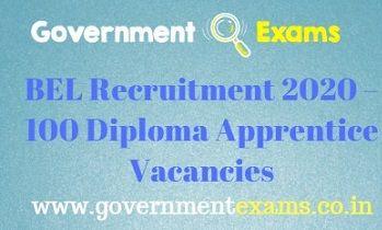 BEL Diploma Apprentice Recruitment 2020