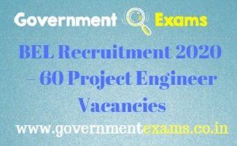 BEL Recruitment 2020