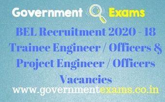Bharat Electronics Limited Recruitment 2020