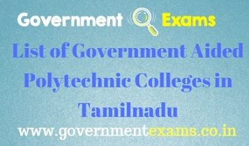 Government Aided Polytechnic Colleges in Tamilnadu