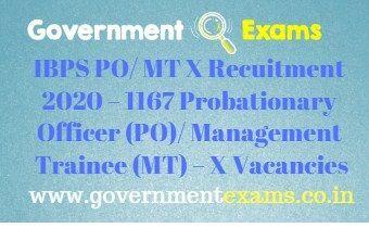 IBPS PO / MT X Recuitment 2020
