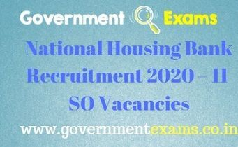National Housing Bank Recruitment 2020
