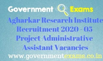Agharkar Research Institute Recruitment 2020