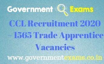 CCL Trade Apprentice Recruitment 2020