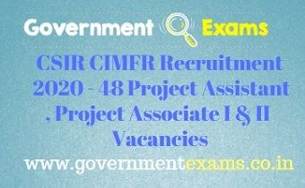 CIMFR Project Assistant and Associate Recruitment 2020