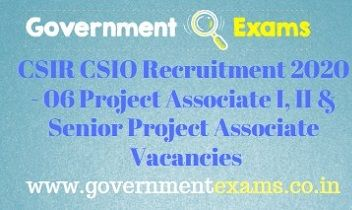 CSIR CSIO Recruitment 2020