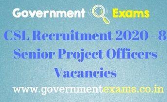 CSL Senior Project Officer Recruitment 2020
