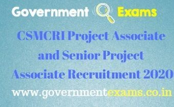 CSMCRI Project Associate and Senior Project Associate Recruitment 2020