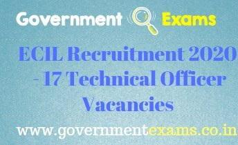 ECIL Technical Officer Recruitment 2020 17 Vacancies