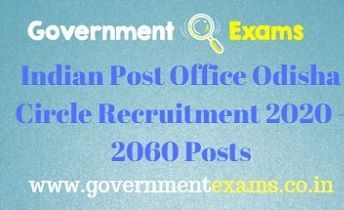 Indian Post Office Odisha Circle Recruitment 2020