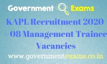 KAPL Management Trainee Recruitment 2020