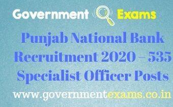 Punjab National Bank Recruitment 2020