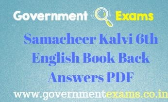 Samacheer Kalvi 6th English Book Back Answers