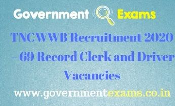 TNCWWB Record Clerk and Driver Recruitment 2020