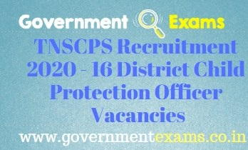 TNSCPS Recruitment 2020
