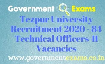 Tezpur University Recruitment 2020
