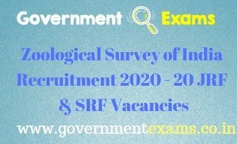 Zoological Survey of India Recruitment 2020