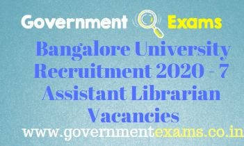 Bangalore University Assistant Librarian Recruitment 2020