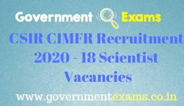 CIMFR Scientist Recruitment 2020