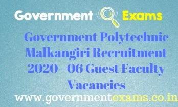 Government Polytechnic Malkangiri Recruitment 2020