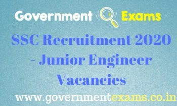 SSC Junior Engineer Recruitment 2020