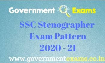 SSC Stenographer Exam Pattern 2020