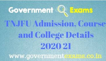 TNJFU Admission, Course and College Details 2020 21