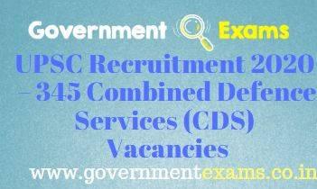 UPSC CDS Recruitment 2020-21