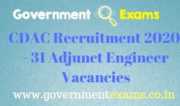 CDAC Adjunct Engineer Recruitment 2020