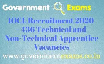 IOCL Technical Non-Technical Apprentice Recruitment 2020