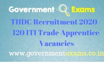 THDC ITI Trade Apprentice Recruitment 2020