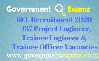 BEL Project Engineer Trainee Officer Recruitment 2020