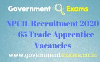 NPCIL Trade Apprentice Recruitment 2020
