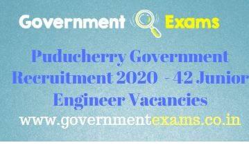 Puducherry Electricity Department Junior Engineer Recruitment 2020