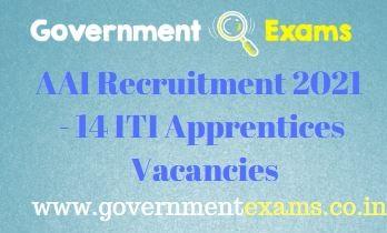 AAI ITI Apprentices Recruitment 2021