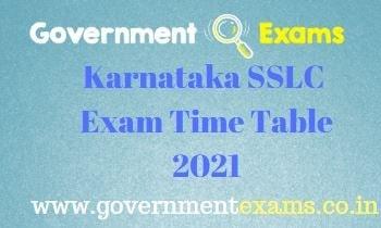 Karnataka SSLC Exam Date 2021