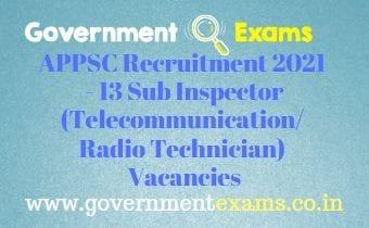 APPSC Sub Inspector Recruitment 2021