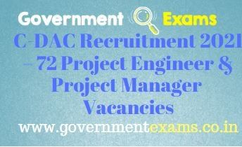 C-DAC Noida Project Engineer Manager Recruitment 2021
