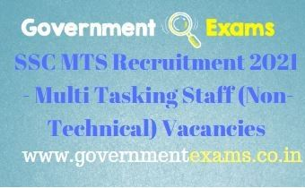 SSC MTS Non-Technical Recruitment 2021