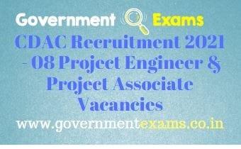 CDAC Chennai Project Engineer Associate Recruitment 2021