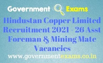 HCL Assistant Foreman Mining Mate Recruitment 2021