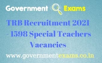 TN TRB Special Teachers Recruitment 2021