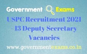 UPSC Deputy Secretary Recruitment 2021